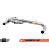 AWE Tuning BMW F3X 340i Touring Edition Axle Back Exhaust -- Chrome Silver Tips (102mm)