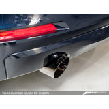 AWE Tuning BMW F30 320i Touring Edition Exhaust + Performance Mid Pipe, Single Side -- Chrome Silver Tip (102mm)
