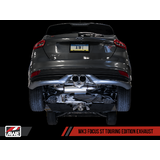 AWE Focus ST Touring Edition Cat-back Exhaust - Non-Resonated - Diamond Black Tips