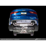 AWE Tuning Audi  S3 Track Edition Exhaust with Diamond Black Tips, 102mm