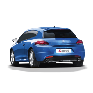 Akrapovic Slip-On Line (SS) for Scirocco R with Carbon Tailpipes